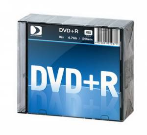 DVD+R Data Standard 16x, 4.7Gb 10 Slim
