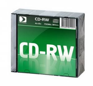 CD-RW Data Standard 80/700MB 12x 10 Slim