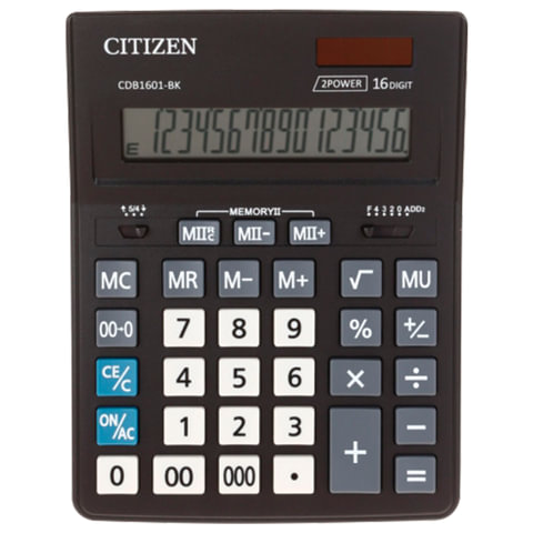 Калькулятор CITIZEN BUSINESS LINE CDB1601BK (200x155 мм)